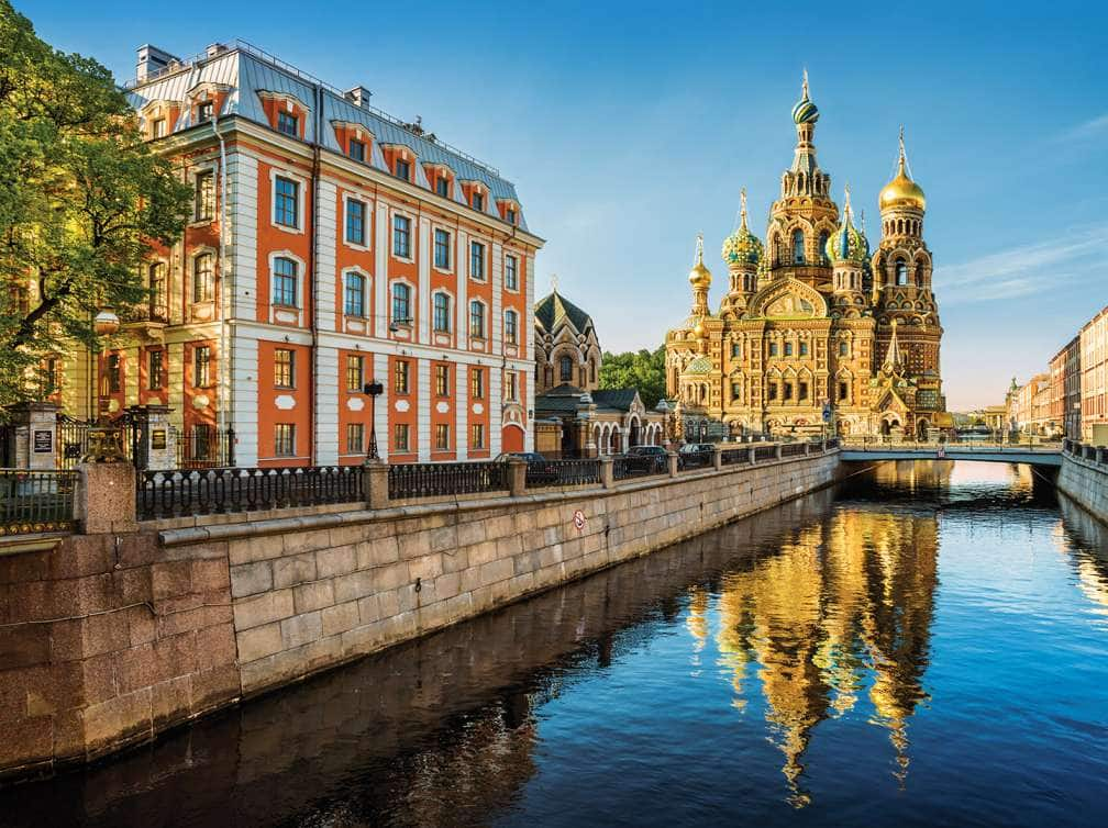View of St.Petersburg Blood Church seen on a Holland America Line Russia cruise