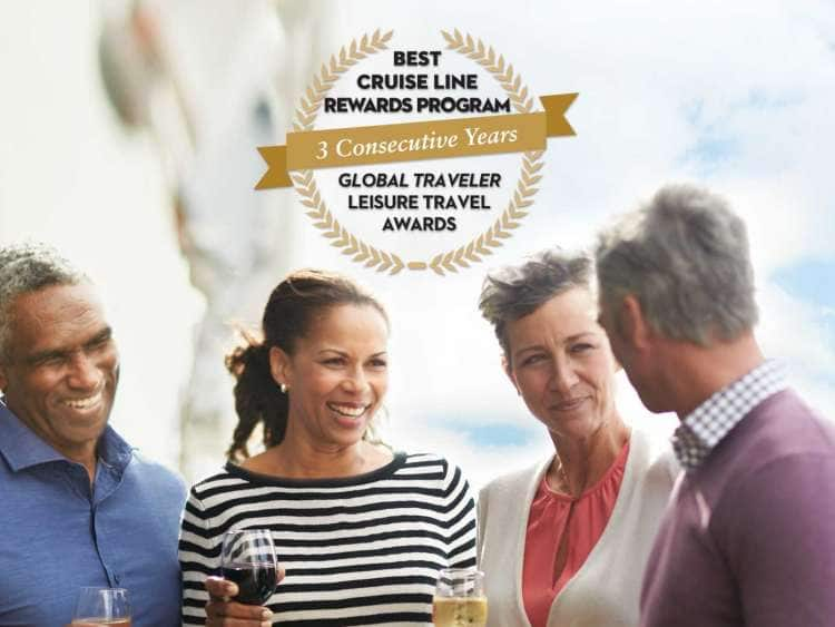 Holland America Line has received the award for Best Cruise Line Rewards Program from Global Traveler Leisure Travel for 3 consecutive years