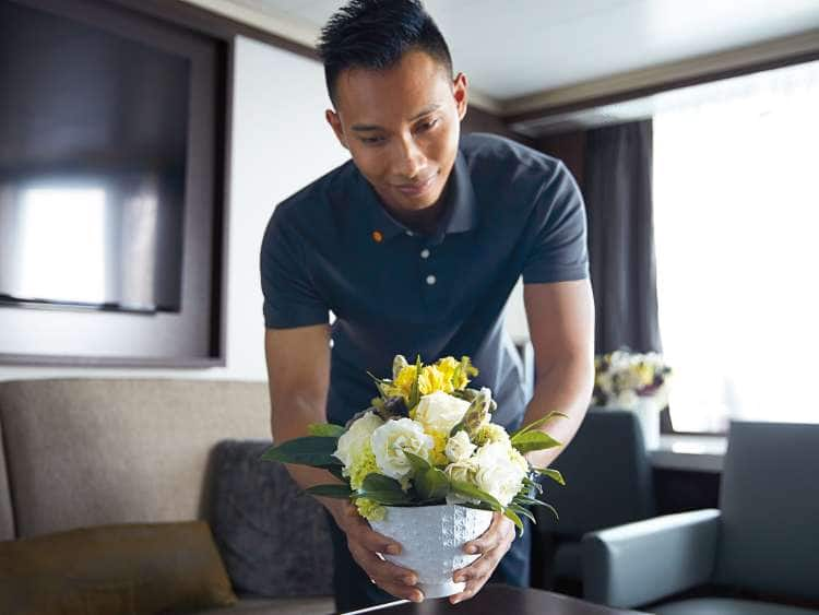 in room flower service